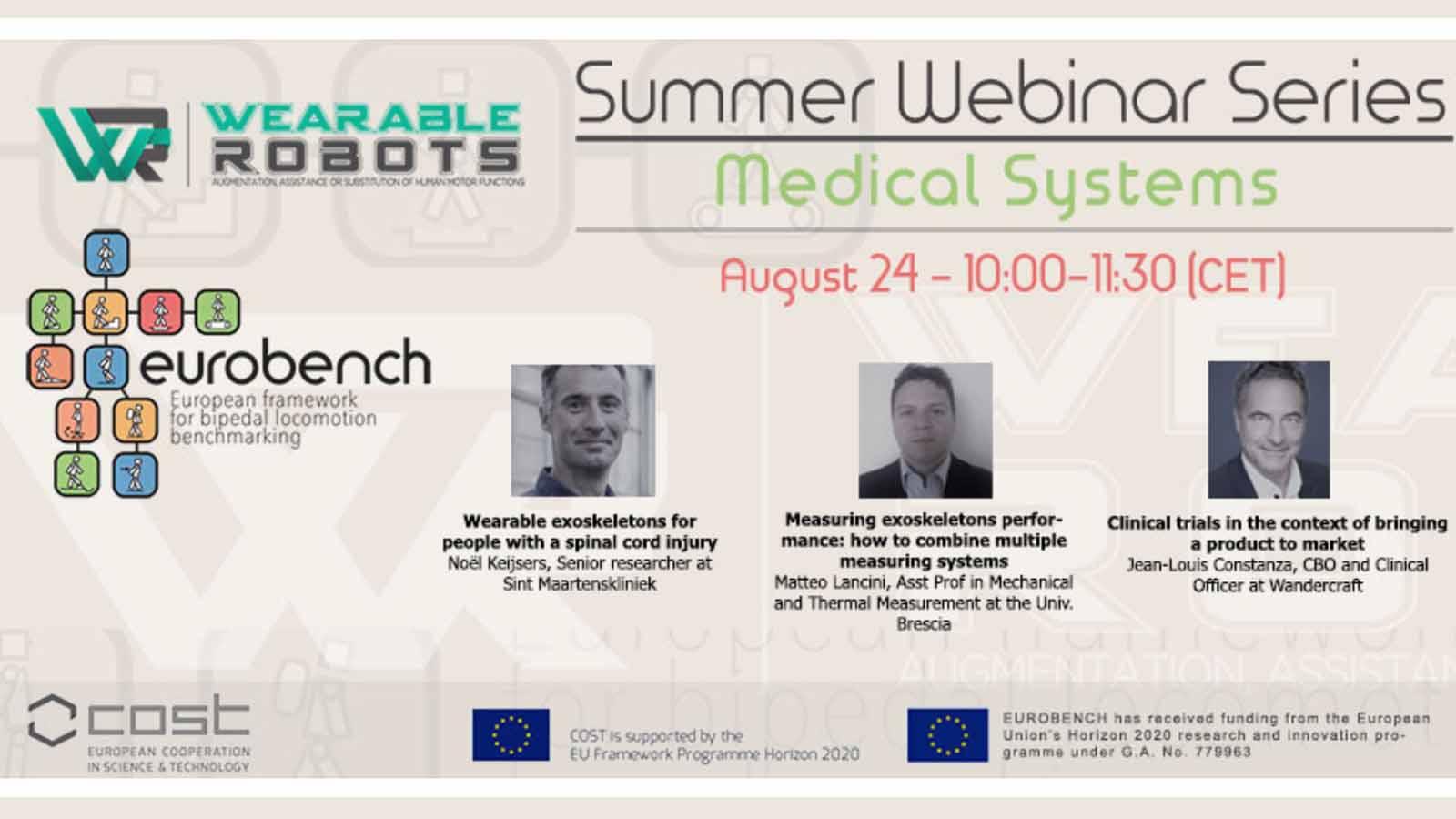 Summer Webinar Series Medical Systems