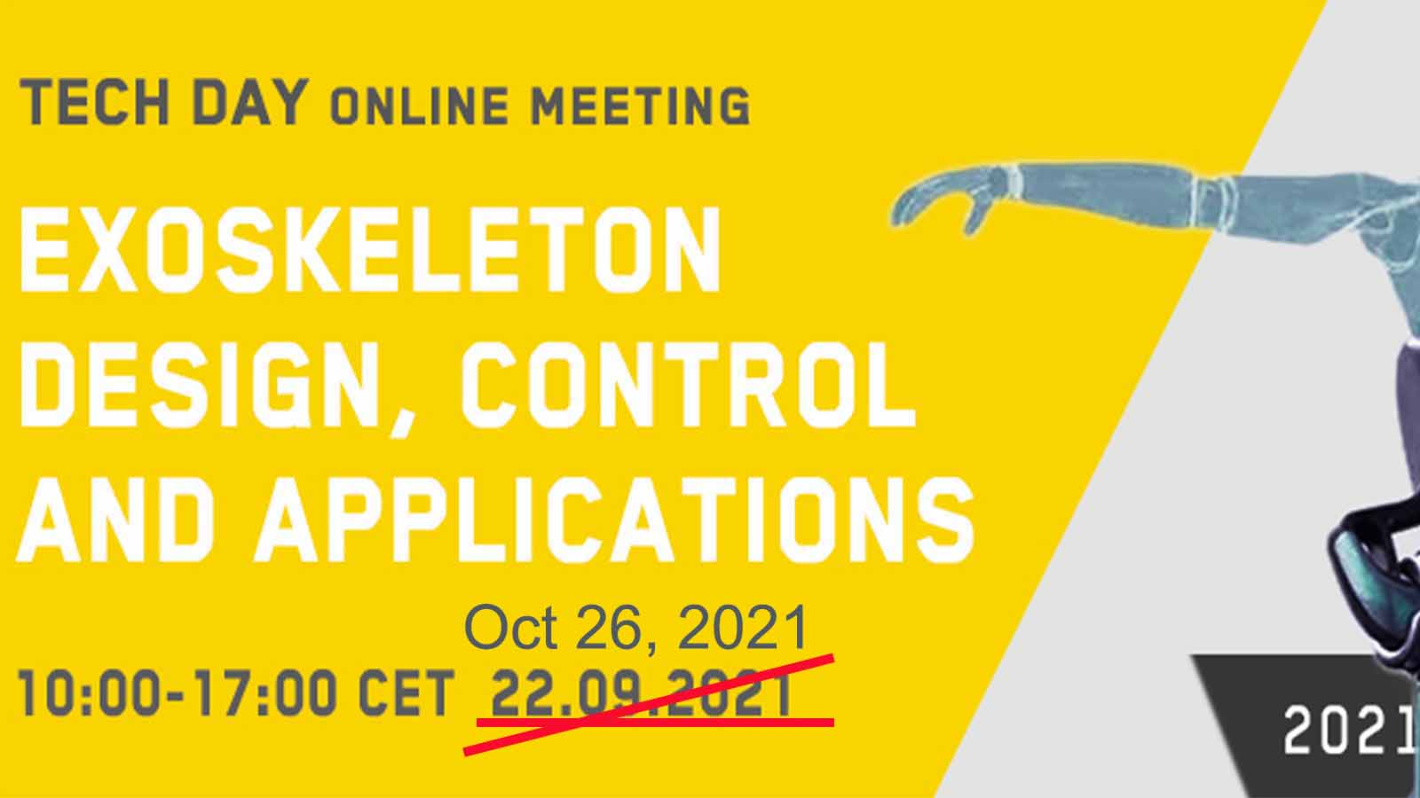 TechDay Exoskeleton Design Control and Applications Oct 2021jpg