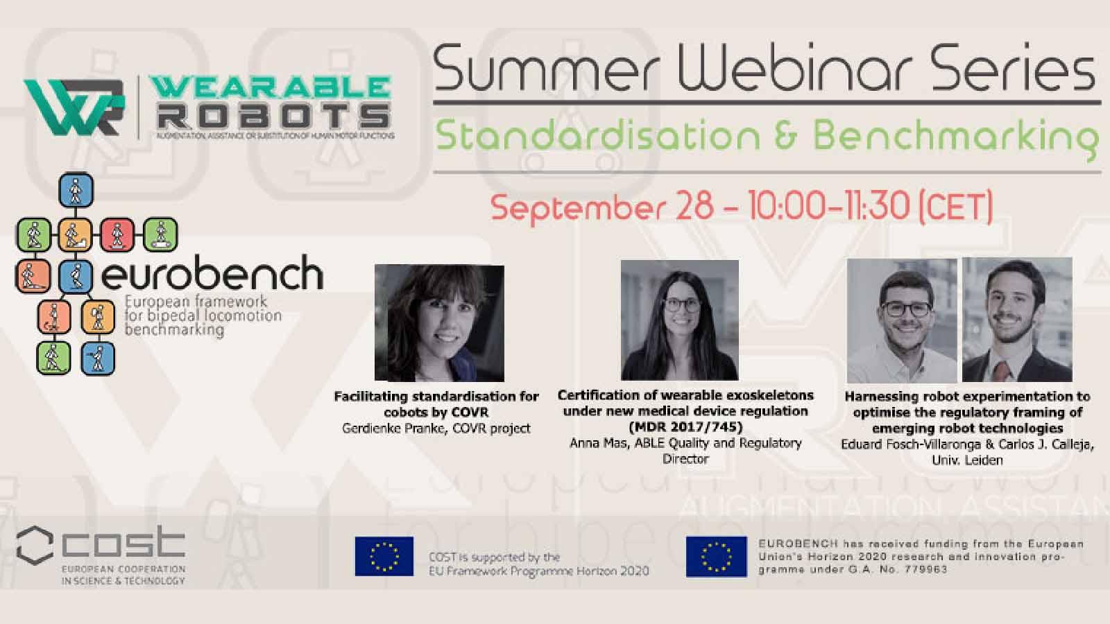 Standardisation and Benchmarking EUROBENCH Exoskeleton Sept 2021