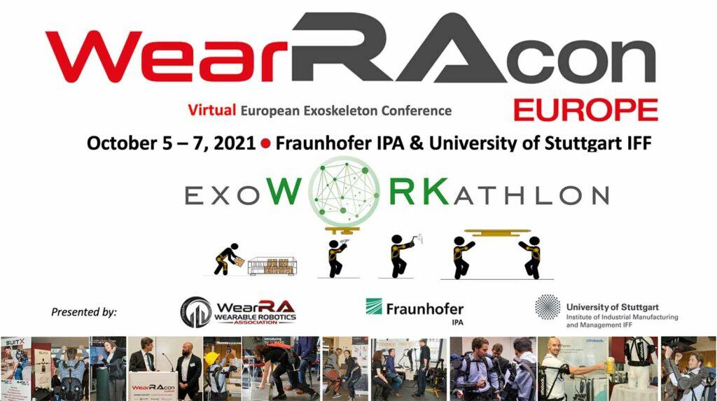 WearRAcon Europe Virtual 2021 and EXOWORKATHLON